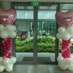 Heart Balloon Columns