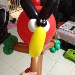 Angry Bird Balloon Sculpture