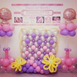 Baby Party Balloons Backdrop