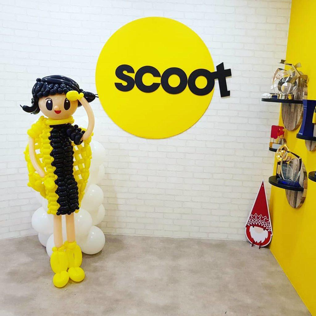 Balloon Air Stewardess for Scoot