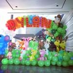 Balloon Animals Backdrop Display