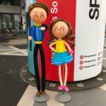 Balloon Couple Sculpture Display