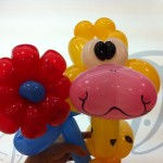 Balloon Flower and Giraffe Sculpture