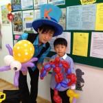 Balloon Octopus and Balloon Spiderman