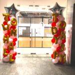 Balloon Pillars with customised words