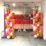 Balloon Pillars with words