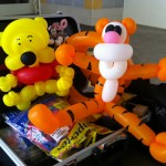 Balloon Pooh and Tiger Sculpture