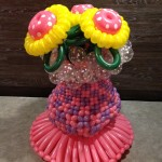 Balloon Pot with Sunflower Display