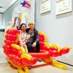 Balloon Sleigh Sculpture