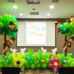 Balloon Tree and animals Backdrop