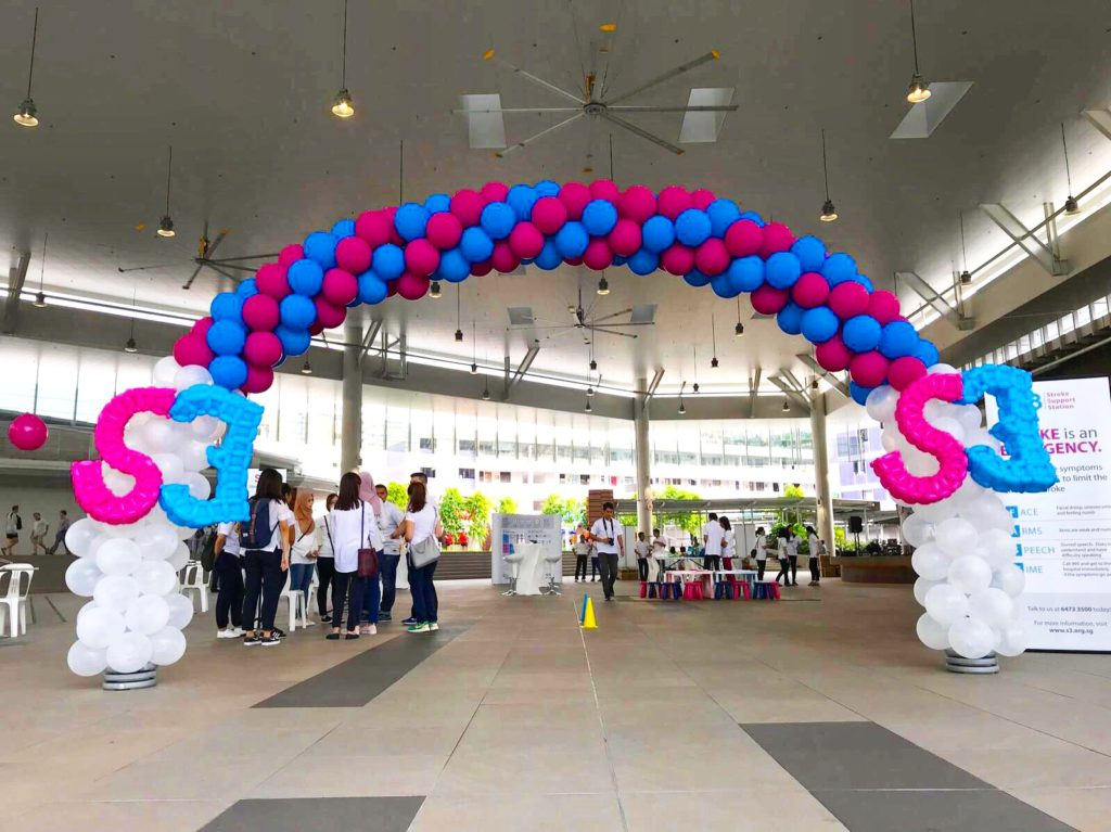 Blue and Pink Balloon Arch
