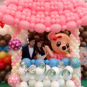 Candy Stall Balloon Photo frame