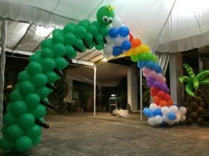 Caterpillar Balloon Arch