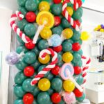 Christmas Balloon Backdrop Display