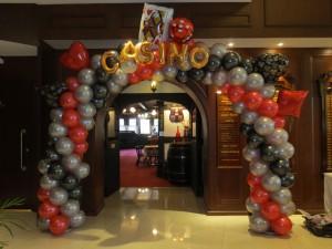 Customised Casino Balloon Arch