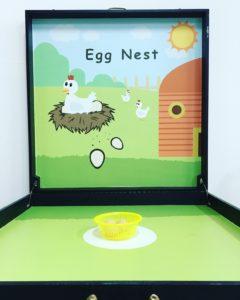 Egg Nest Toss Carnival Game Stall