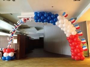 France Themed Balloon Arch Bastille Day