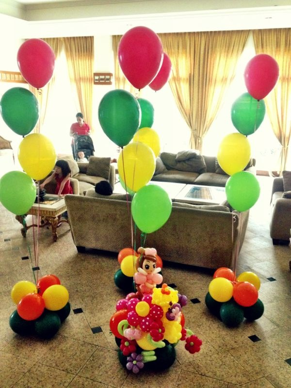 Helium balloon princess decoration that balloons for Balloon decoration ideas no helium