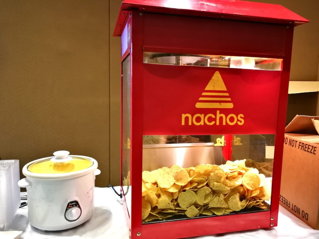 Nacho Cheese Chips Live Station