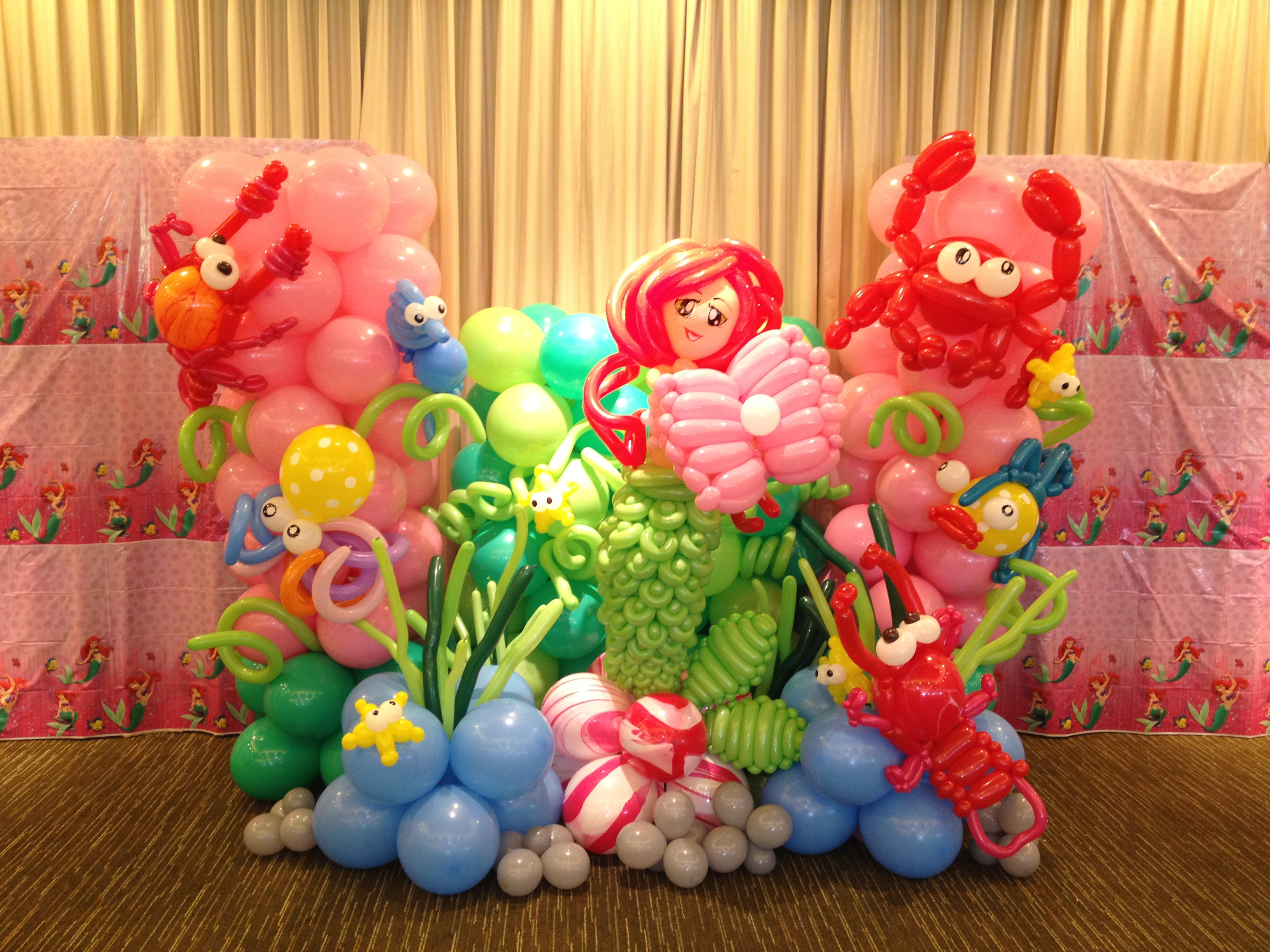 Singapore balloon underwater and mermaid display that for Balloon decoration cars theme