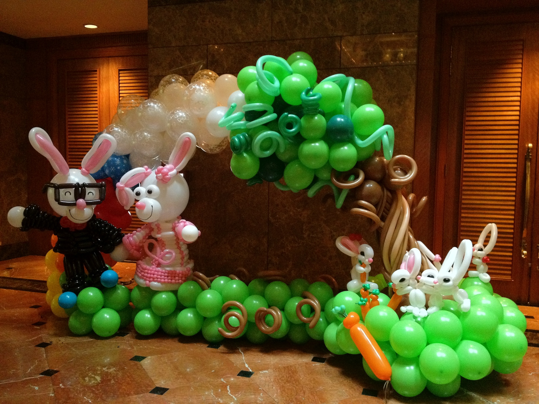 Balloon decorations for wedding that balloons for Ballon decoration