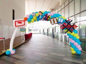 Sports Theme Balloon Arch Singapore