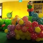 Balloon Caterpillar and Flowers Sculptures