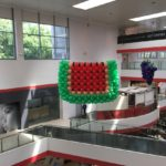 Large Balloon Watermelon Sculpture in Shopping Mall