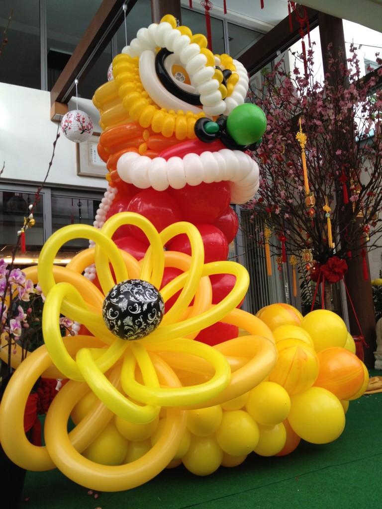 Balloon Lion Head Display