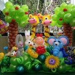Premium Garden Balloons Backdrop Display