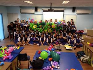Balloon Twisting Workshop at CHIJ