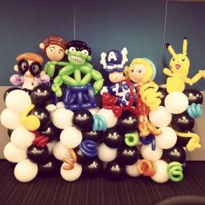 Cartoon Balloons done by our artist Jocelyn