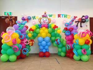 Carnival Balloon Backdrop Display