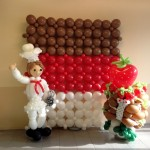 Balloon Chocolate Backdrop Display