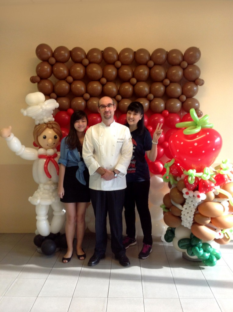 Customised Balloon Chef and Chocolate Display