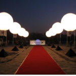 Outdoor Advertising LED Balloon Stand