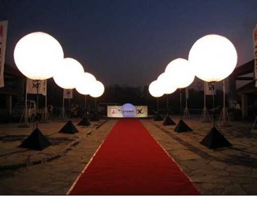Outdoor Advertising LED Balloon Stand | THAT Balloons