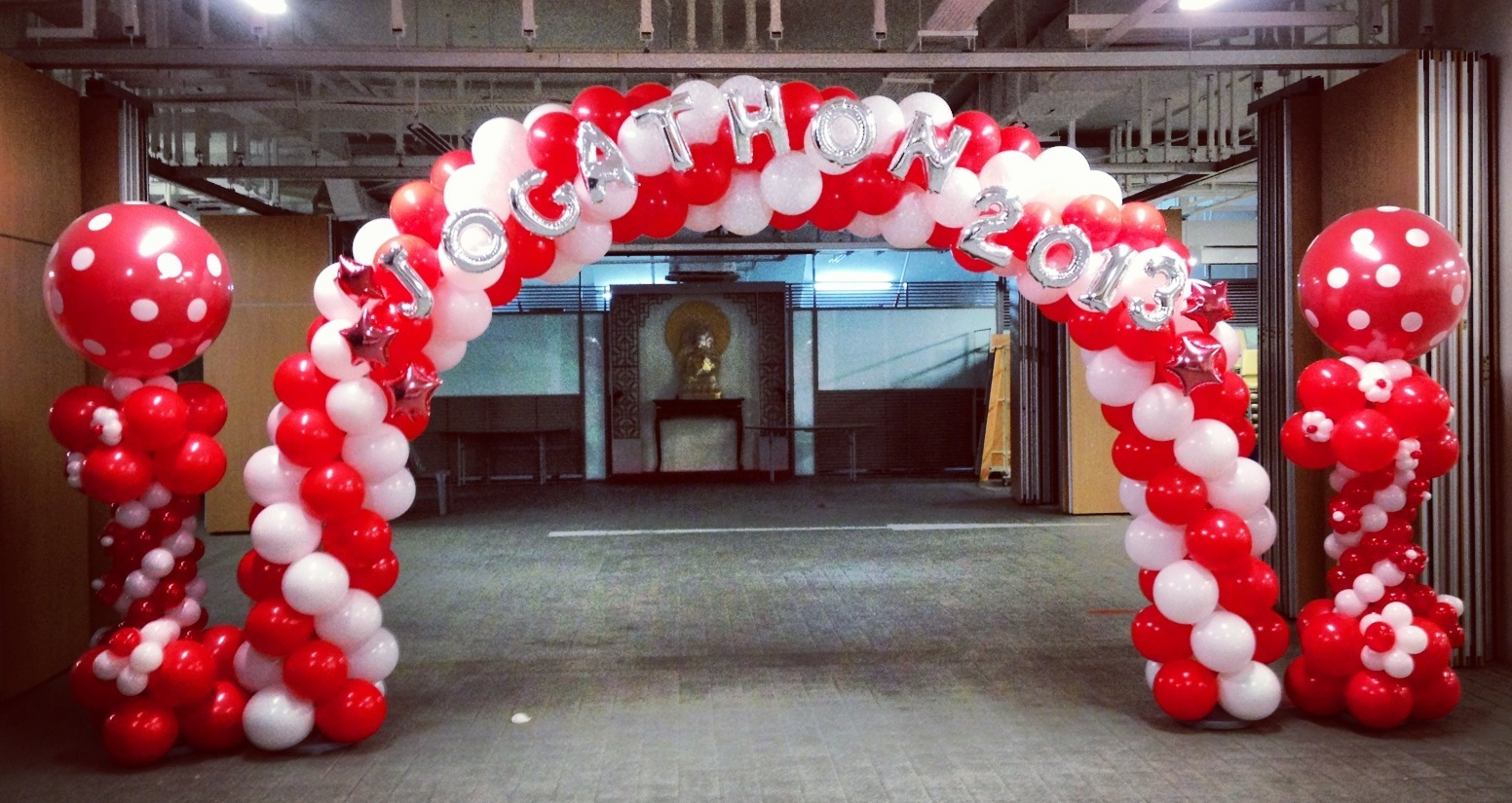 Singapore balloon arch that balloons for Balloon decoration arches