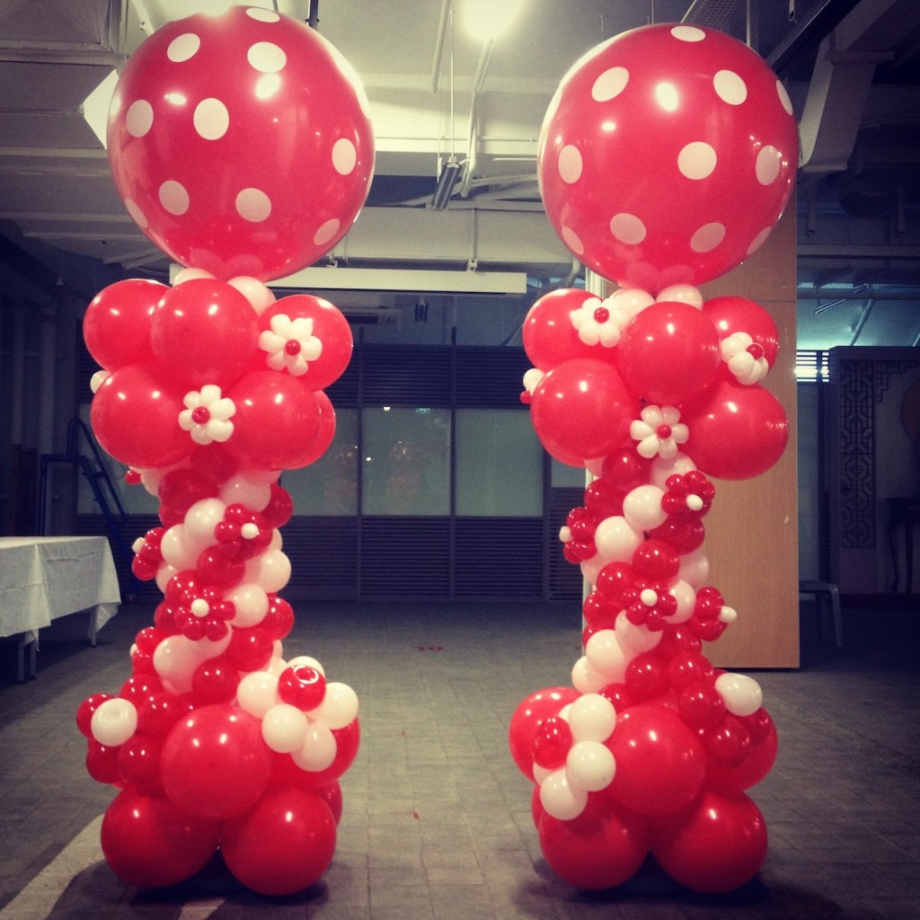 Singapore balloon columns that balloons for Balloon column decoration