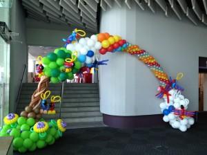 Balloon Garden Rainbow Arch