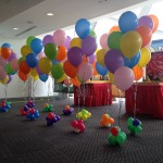 Colourful Helium Balloon Decorations