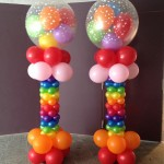 Rainbow Balloon Columns