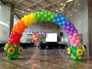 Balloon Rainbow Arch