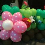 Garden theme balloon sculpture