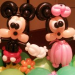 Balloon Mickey and Minne Mouse