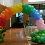 Garden Rainbow Balloon Arch