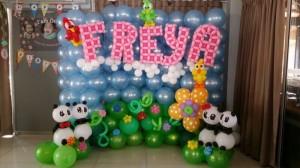 Balloon Panda and birds