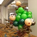 Balloon Monkeys on Tree