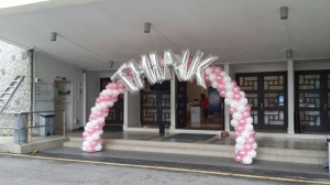 Balloon Pink Sprial Arch
