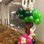 Balloon Rabbit on Tree